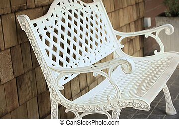 White steel the chair