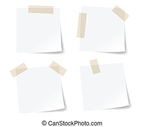 White stick note papers