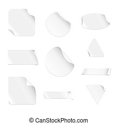 White Stickers (vector)