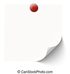 white sticky note with pin needle - white sticky note with...