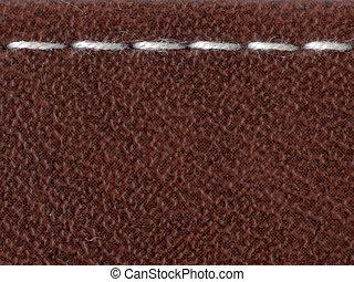 white stitch - straight white stitch over the leather...