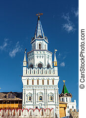 White-stone Kremlin in Izmaylovo in Moscow, Russia