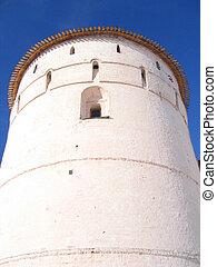 White stone tower