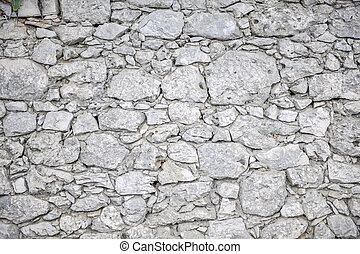 White stone wall for background