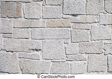 White stone wall
