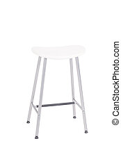 White Stool - A white stool on a white background