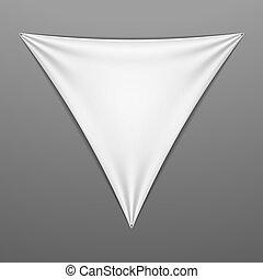 White stretched triangular shape