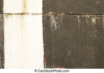 White stripe on the black wall - background