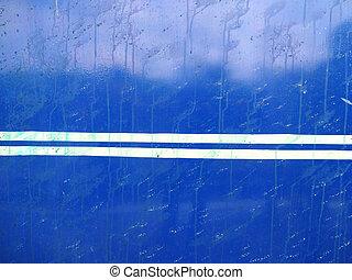 White Striped Blue Metal Sheet