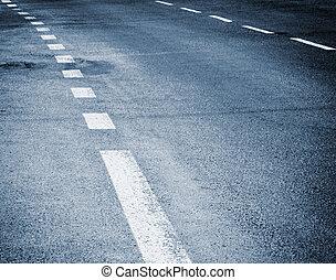 white stripes on the road