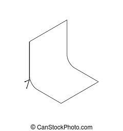 White studio backdrop icon, isometric 3d style - White...
