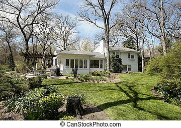 White suburban home