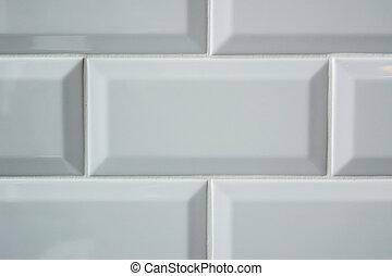 White Subway Tile Background - Rectangle subway tiles on a ...