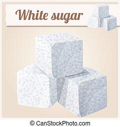 White sugar. Detailed Vector Icon