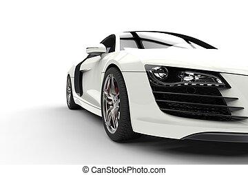 White Supercar Headlights