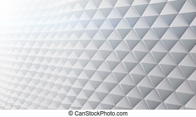 White surface vibrating 3D render. Seamless loop animation