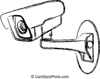 White Surveillance Camera (CCTV)