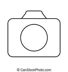 White symbol camara icon image