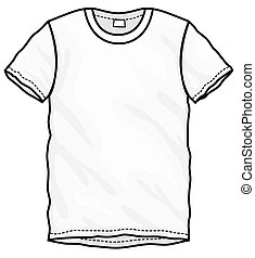 White T-Shirt Design Template