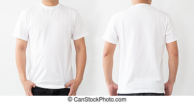 White T Shirt Front And Back White Background