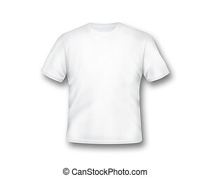 White T-shirt isolated on white background