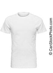 white t-shirt - white man's t-shirt with white background