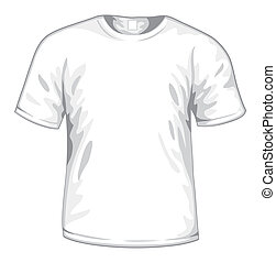 White t-shirt vector - White t-shirt