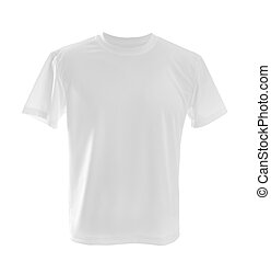 White t-shirt - white T-shirt ?an be used as design template...
