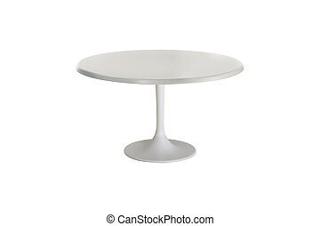 white table isolated on white background