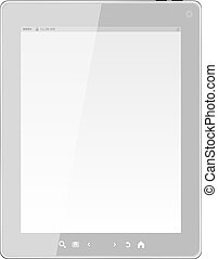 white tablet pc computer