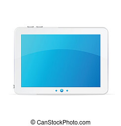 White tablet pc isolated