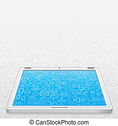White Tablet PC Vector