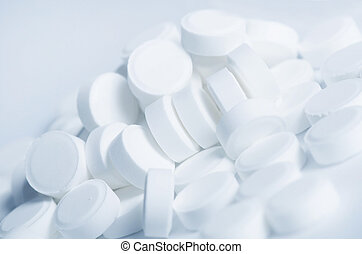 White tablets - abstract medical