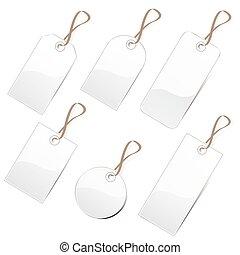 white tags
