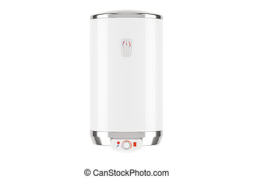 white tank electric water heater or boiler, 3D rendering