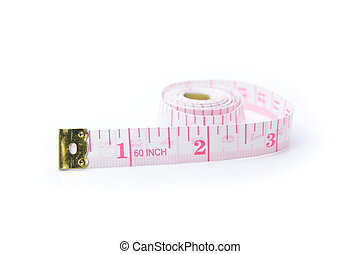 white tape measuring on white