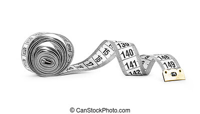 white tape measuring