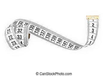 white tape measuring.