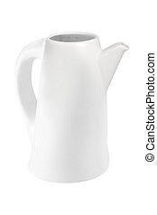 white teapot isolated on white