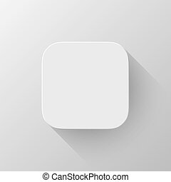 White Technology App Icon Blank Template - White technology...