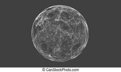 White technology sphere