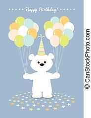 white teddy bear balloons
