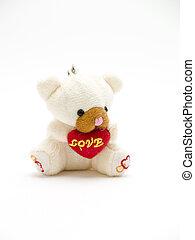 white teddy bear -   white teddy bear