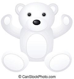 white teddy bear toy