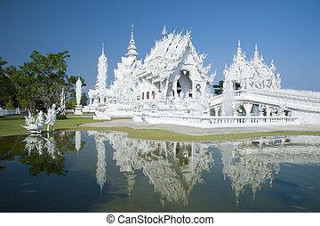 White Temple Chiang Rai Thailand - Beautiful ornate white...