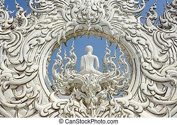 white temple detail