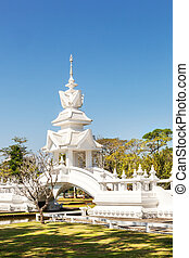 White Temple. Famous tourist attraction. - Wat Rong Khun,...