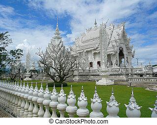 White temple wat Rong Khun Thailand