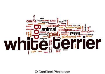 White terrier word cloud concept - White terrier word cloud