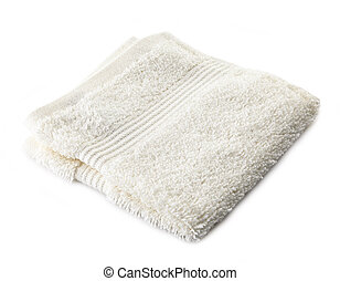 white terry towel on a white background